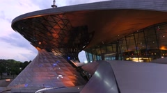 Munich bmw welt, world Stock Footage