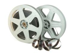 35mm film in two reels - stock photo