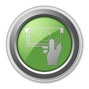 Icon, button, pictogram atm Stock Illustration