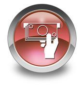 icon, button, pictogram atm - stock illustration
