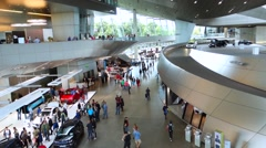 BMW World, Welt in Munich, Bavaria, Germany - stock footage