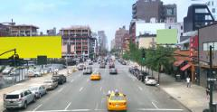 4K Manhattan Chelsea 10th Avenue Perspective Establishing Shot Stock Footage