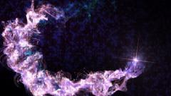 Particles Ring and Disco Dance Texture, Background Stock Footage