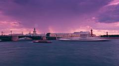 Vasilevsky Island. St. Petersburg. Russia Stock Footage