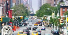 4K Chelsea 10th Avenue View from High Line Stock Footage