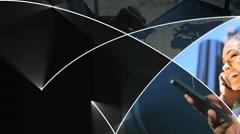 Motion Graphics Asian businessman Touchscreen Smartphone technology analysis Arkistovideo