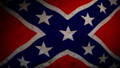 Confederate States Flag Background Stock Footage