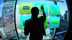 Stock Video Footage of Business Touchscreen motion graphics currency investment Technology global Trade