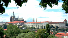 prague castle, czech republic,real time - stock footage