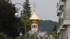 Russian Orthodox Church of the Transfiguration. Baden-Baden. Germany Stock Footage
