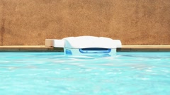Swimming Pool Cleaning Equipment. Pool Water. Speed up. Stock Footage