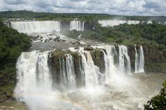 Iguassu falls argentina from brazil Stock Photos