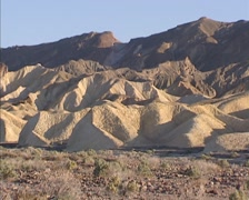 Funeral Mountains in Death Valley, an arid mountain range Stock Footage