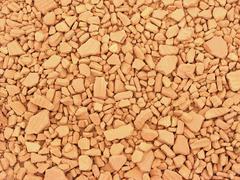 broken clay path - stock photo