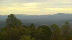 Blue ridge overlook sunset fall afternoon wide shot Stock Footage