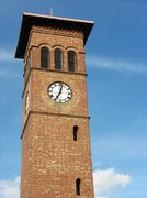 tower clock - stock photo