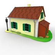 train level-crossing keeper house - 3D model