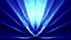 Sedate abstract looping background rays elegant shimmering blue Stock Footage