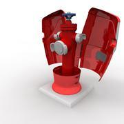 fire water pump with internal details - 3D model
