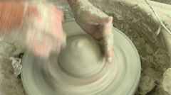 Potter starts a bowl s 3 Stock Footage