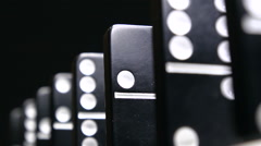 Dominoes tumble - stock footage