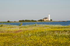 Hogby lighthouse at the swedish island oland Stock Photos