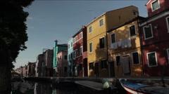 Burano, Venice, Italy Stock Footage