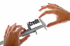 How big is our credit Stock Illustration