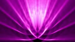 Sedate abstract looping background rays elegant shimmering purple - stock footage