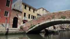 Italy, Venice, shooting on a boat across the island Stock Footage