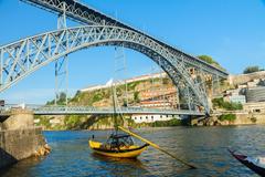 bridge of dom luis , portugal - stock photo