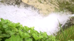 Mountain waterfall in slow motion efect Stock Footage