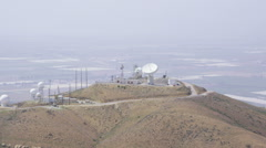 Aerial view Communication Tower Stock Footage