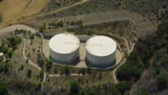 Aerial view of water or oil treatment California Stock Footage