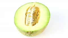 Melon rotates on a white background loop Stock Footage