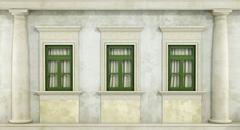 Detail of classc facade Stock Illustration