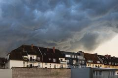 Thunderstorm - bielefeld - germany 2014 Stock Photos
