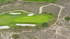 Aerial view of Californian golf course Stock Footage