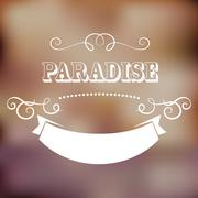 paradise poster - stock illustration