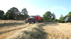 Driving the big tractor into position Stock Footage
