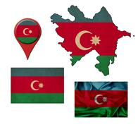 Stock Illustration of grunge azerbaijan flag, map and map pointers