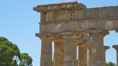 Greek Temple Acropolis Sicily 4K Stock Footage