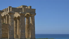 greek temple ruin background 4k - right gfx space - stock footage
