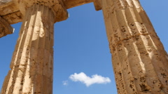 Greek columns cloud timelapse Stock Footage