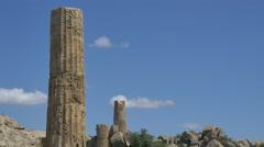 Greek temple ruin background 4k Stock Footage