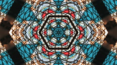 Tripping colors Kaleidoscope Stock Footage