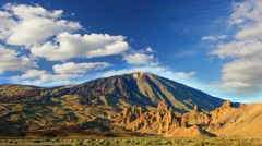 Mountains  landscape. Teide volcano, Tenerife, Canary islands, Spain, time-lapse Stock Footage