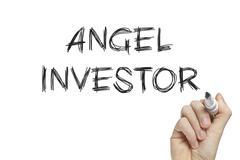 Hand writing angel investor Stock Illustration