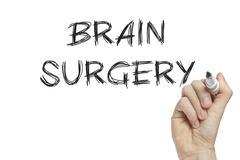 Hand writing brain surgery Stock Illustration