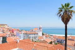 view of Alfama, Lisbon, Portugal - stock photo